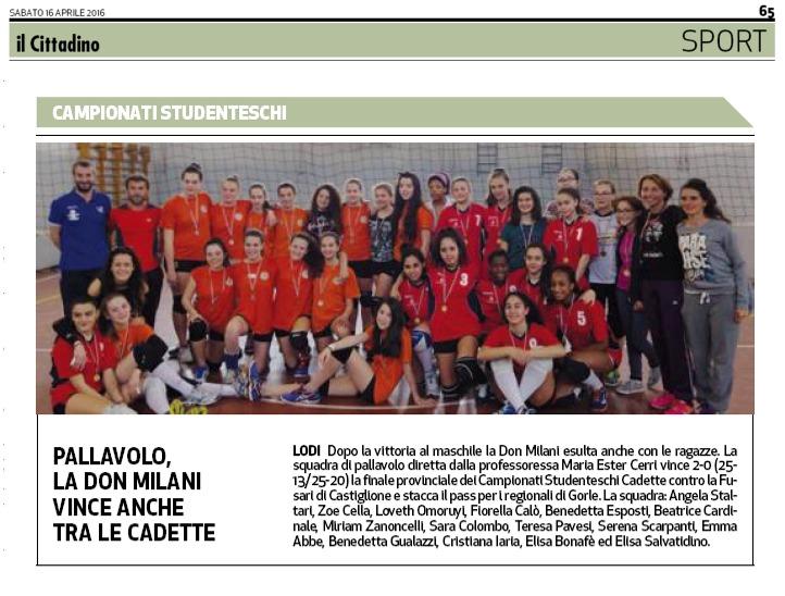 campionesse provinciali di volley